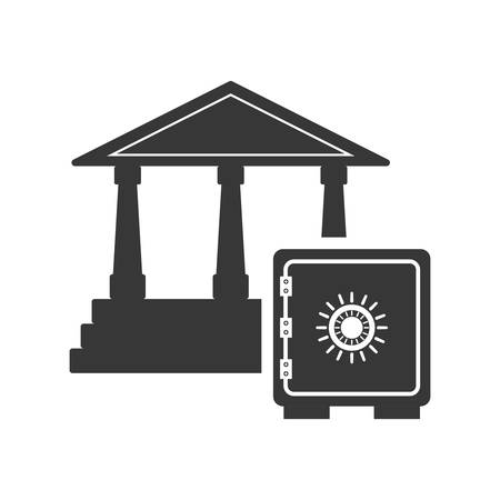 strongbox: strongbox bank money financial commerce icon. Flat and Isolated design. Vector illustration