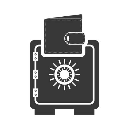 strongbox: strongbox wallet money financial commerce icon. Flat and Isolated design. Vector illustration