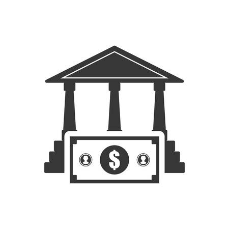 bank bill: bank bill  money financial commerce icon. Flat and Isolated design. Vector illustration