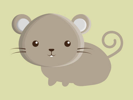 mouse animal: mouse animal cute little cartoon icon. Colorful and flat design. Vector illustration Illustration