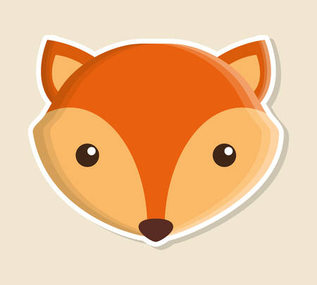 wildlife reserve: fox animal cute little cartoon icon. Colorful and flat design. Vector illustration Illustration