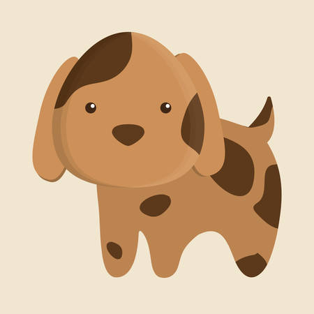 dog animal cute little cartoon icon. Colorful and flat design. Vector illustration Illustration
