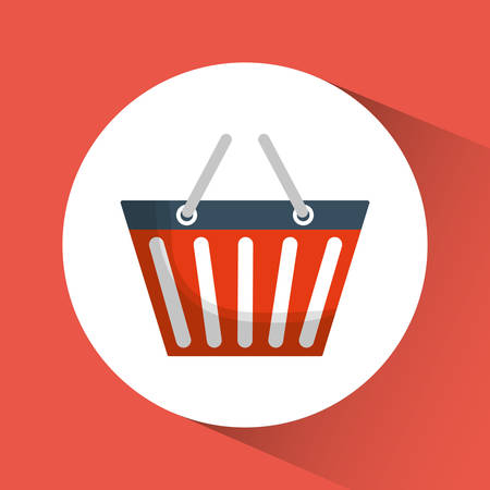 retail display: shopping basket online store market icon. Flat and Colorfull illustration. Vector graphic