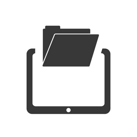 media gadget: tablet file gadget technology media icon. Isolated and flat illustration. Vector graphic Illustration