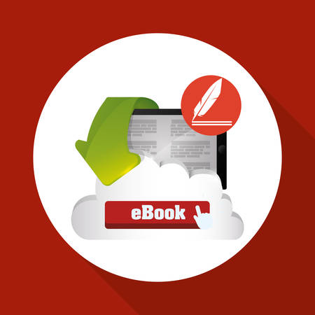 digital library: eBook concept with icon design, vector illustration 10 eps graphic. Illustration