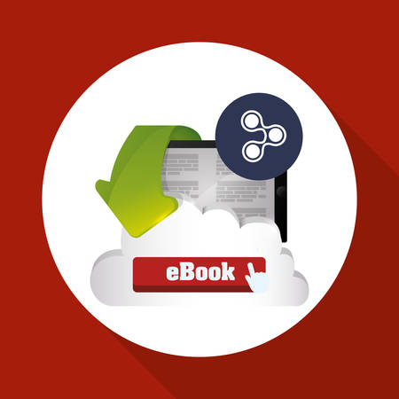 eBook concept with icon design Illustration