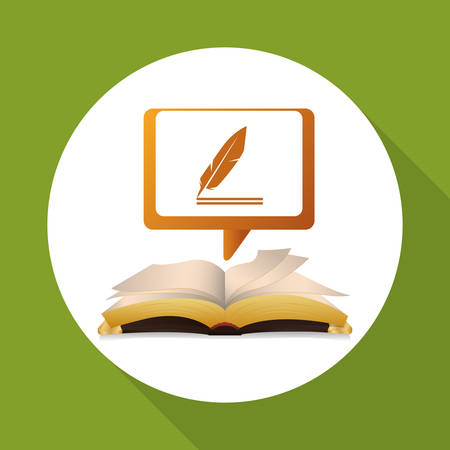 eBook concept with icon design, vector illustration 10 eps graphic. Illustration