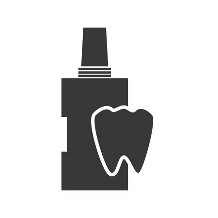 enjuague bucal: teeth mouthwash dental medical care icon. Flat and Isolated design. Vector illustration