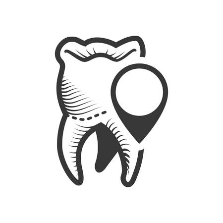 doctor appointment: teeth button dental medical care icon. Flat and Isolated design. Vector illustration