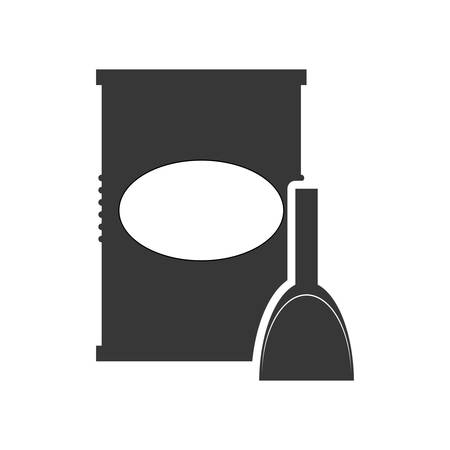 paint can: paint can tool repair construction silhouette icon. Flat and Isolated design. Vector illustration