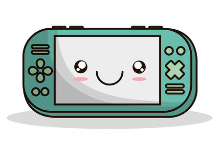 videogame: videogame control kawaii cartoon smiling technology icon. Colorful and flat design. Vector illustration Illustration