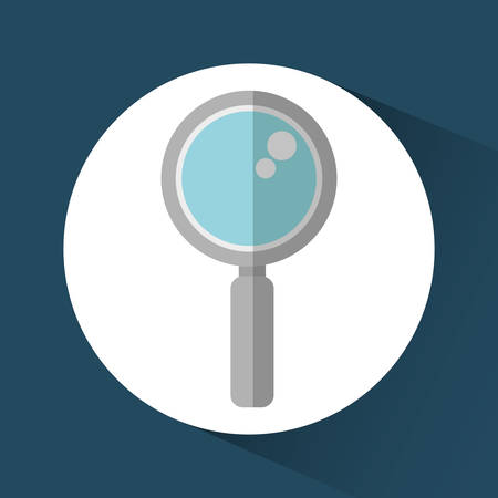 lupe: lupe magnifying glass media search con. Colorful and flat design. Vector illustration Illustration
