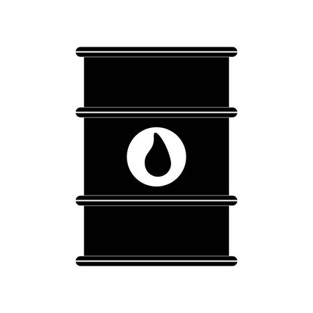 petrochemical: drop barrel oil industry petroleum gasoline icon. Isolated and flat illustration. Vector graphic