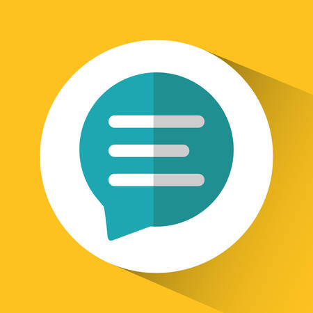 media network: bubble social network communication media con. Colorful circle and flat design. Vector illustration