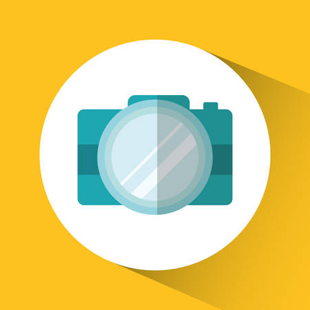 camera gadget technology device con. Colorful circle and flat design. Vector illustration