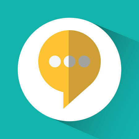 bubble social network communication media con. Colorful circle and flat design. Vector illustration