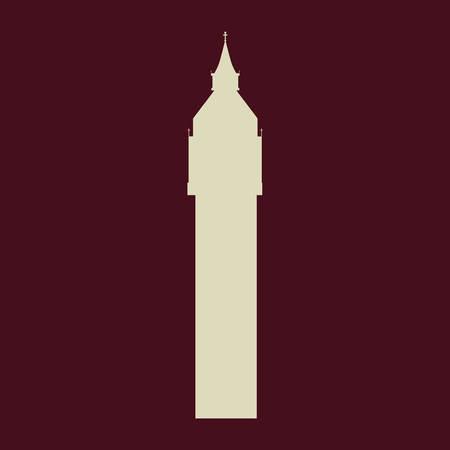british culture: big ben london england landmark patriotic british culture icon. Colorful design. Vector illustration