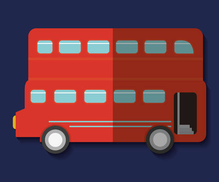british culture: bus london england landmark patriotic british culture icon. Colorful design. Vector illustration
