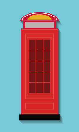 british culture: telephone london england landmark patriotic british culture icon. Colorful design. Vector illustration