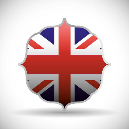british culture: flag frame london england landmark patriotic british culture icon. Colorful design. Vector illustration