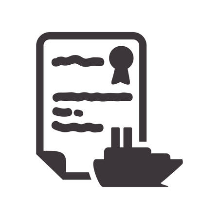 boat accident: boat insurance seal stamp protection security accident icon. Flat and Isolated design. Vector illustration