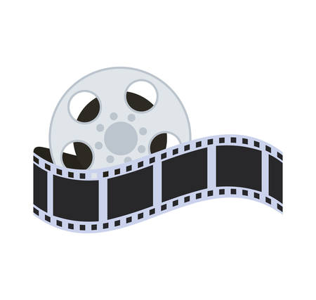 strip show: film strip reel cinema movie entertainment show icon. Flat and Isolated design. Vector illustration