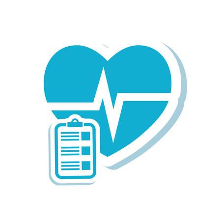 historia clinica: la historia caduceo icono de la atención de salud médica. Diseño plano y aislado. ilustración vectorial
