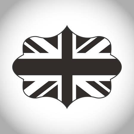 london   england: Silhouette of flag icon. London england landmark and british theme. Isolated design. Vector illustration