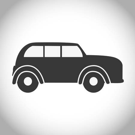 antique car: Silhouette of car icon. antique old automobile transportation and vehicle theme. Isolated design. Vector illustration Illustration