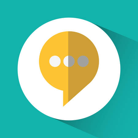 Bubble icon. Social network and media theme. Colorful design. Vector illustration Illustration