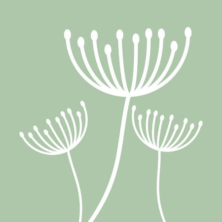 White dandelion icon. Summer seed plant and flower theme. Colorful design. Pastel background. Vector illustration