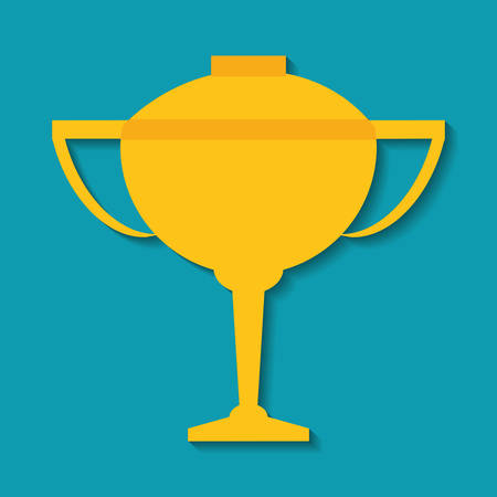 competitor: Gold trophy cup icon. Winner and competition theme. Colorful design. Vector illustration
