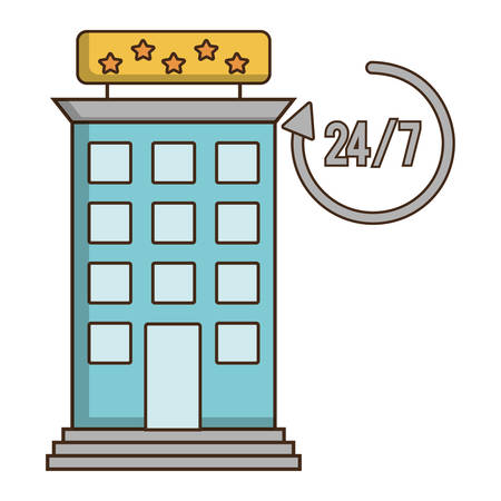 reservations: Building icon. Hotel service theme. Colorful design. Vector illustration Illustration