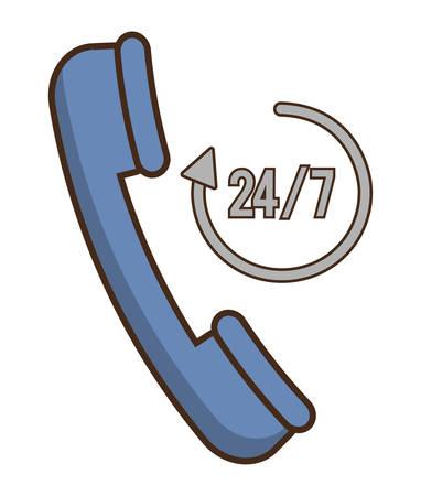 Phone icon. Hotel service theme. Colorful design. Vector illustration Illustration