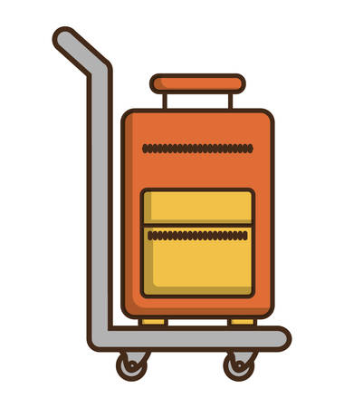 hotel lobby: Baggage and luggage icon. Hotel service theme. Colorful design. Vector illustration