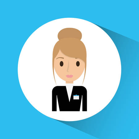 receptionist: Receptionist icon. Hotel service theme. Colorful design. Vector illustration Illustration