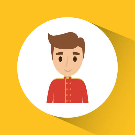 reservations: Bellboy icon. Hotel service theme. Colorful design. Vector illustration Illustration