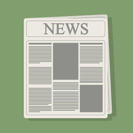 advertising column: newspaper icon. News communication and media theme. Colorful design. Vector illustration Illustration