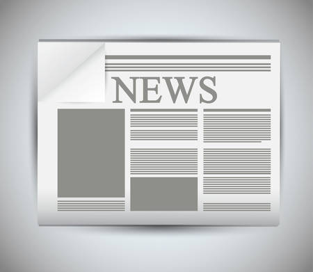 folded newspaper: newspaper icon. News communication and media theme. Isolated design. Vector illustration