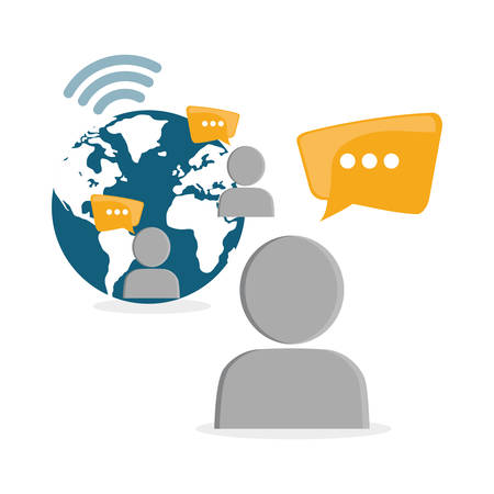 editorial: Social network sharing global message people world