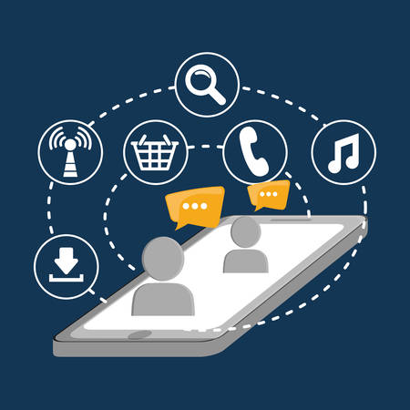 editorial: Social network mesagge business download call global
