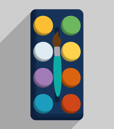 Palette icon. School supply object and education theme. Colorful design. Vector illustration