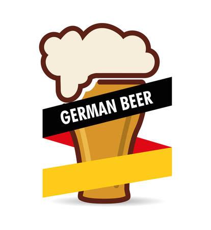 premium quality german beer vector illustration design