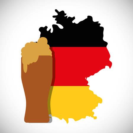 jarra de cerveza: de primera calidad alemana cerveza vector de ilustración, diseño