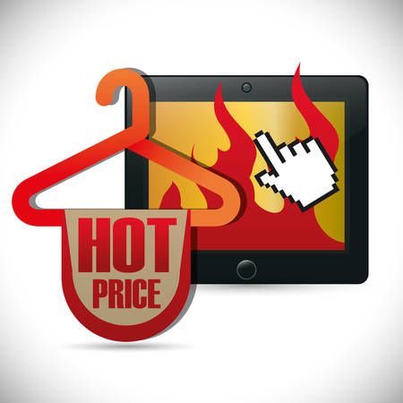 deals: e-commerce deals sale icons vector illustration design Illustration