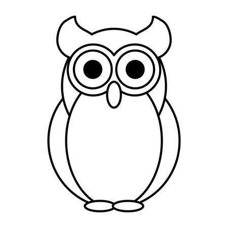 owl illustration: owl bird isolated icon vector illustration design