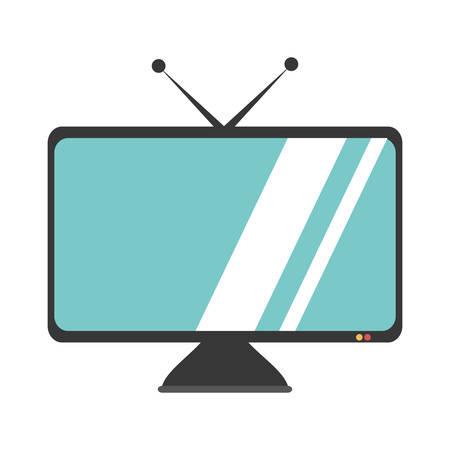 antena: tv plasma isolated icon vector illustration design