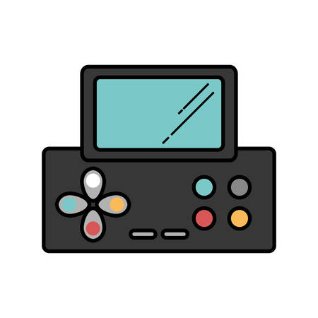 handheld device: video game console portable vector illustration design