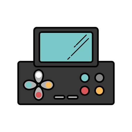 portable: video game console portable vector illustration design