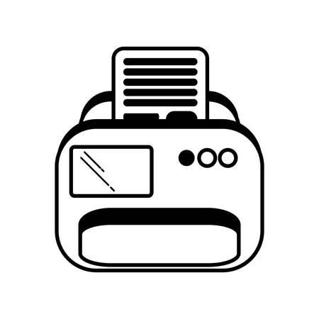 printer document isolated icon vector illustration design